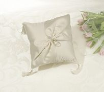 Ivory Rhinestone Wedding Ring Cushion
